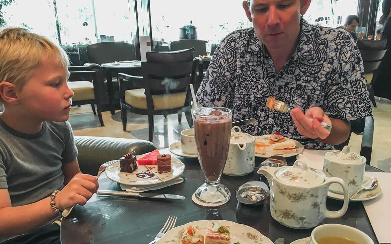 High tea, Singapore