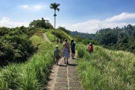 Sebastian og Lise på Campuhan Ridge Walk, Ubud, Bali