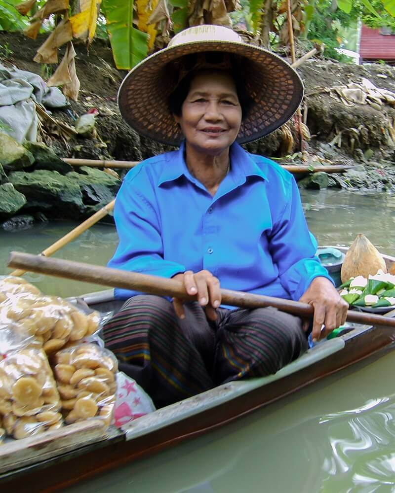 Woman, At Damnoen Saduak Floating Market