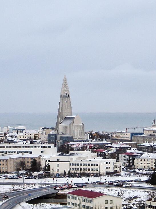 Hold nytår i Reykjavik, Island
