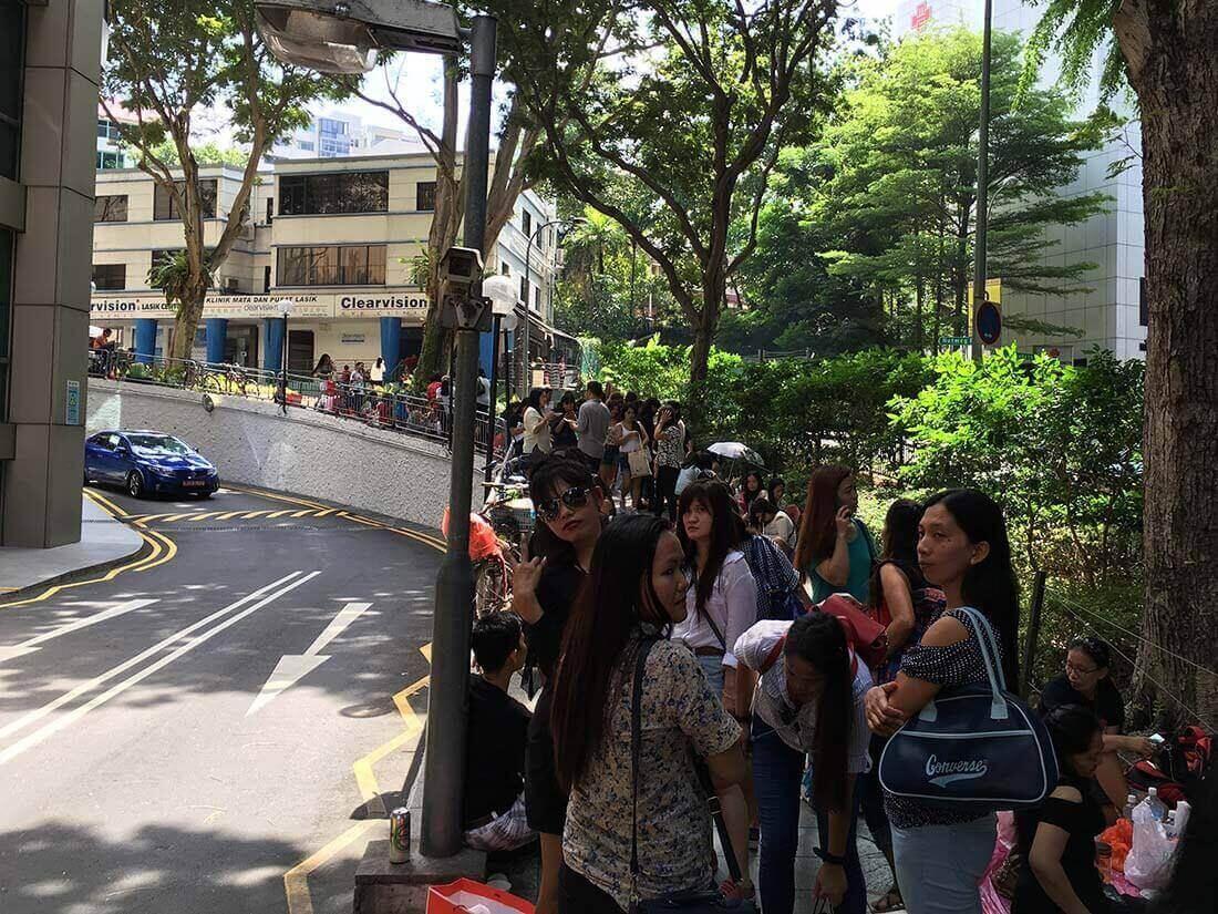 Singapore - masser af mennesker overalt