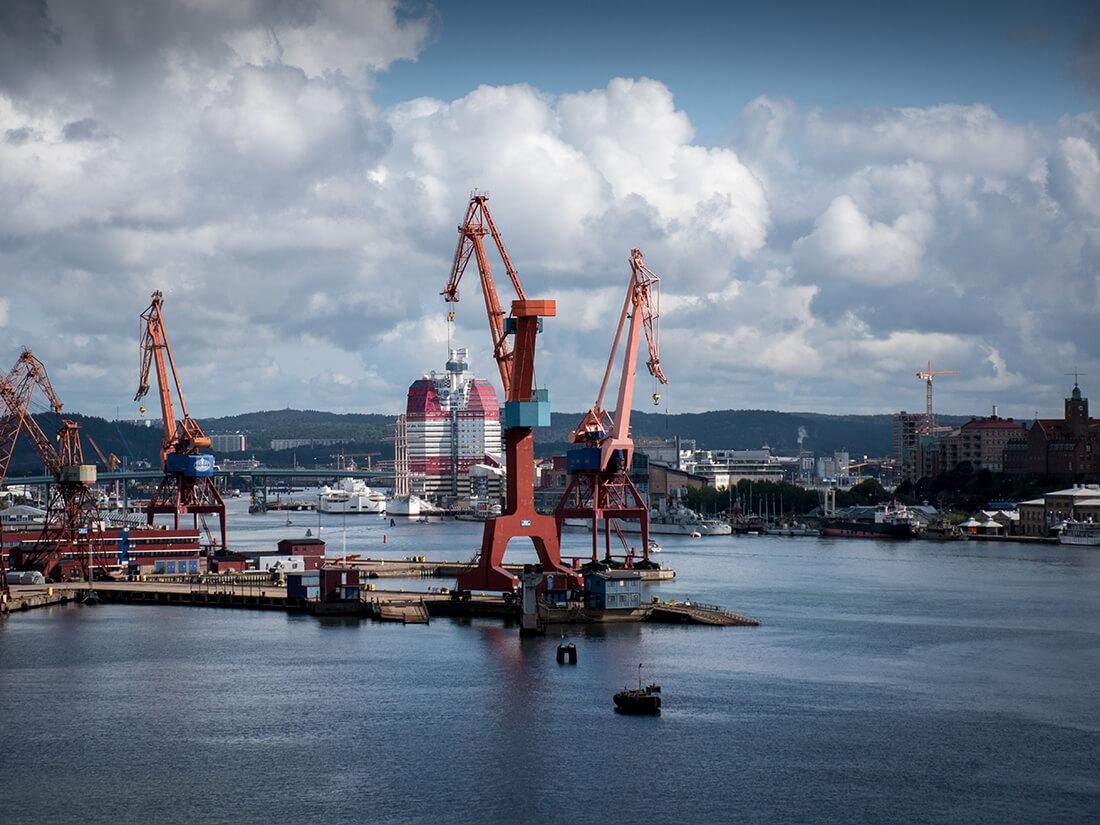 Göteborg havn, Sverige