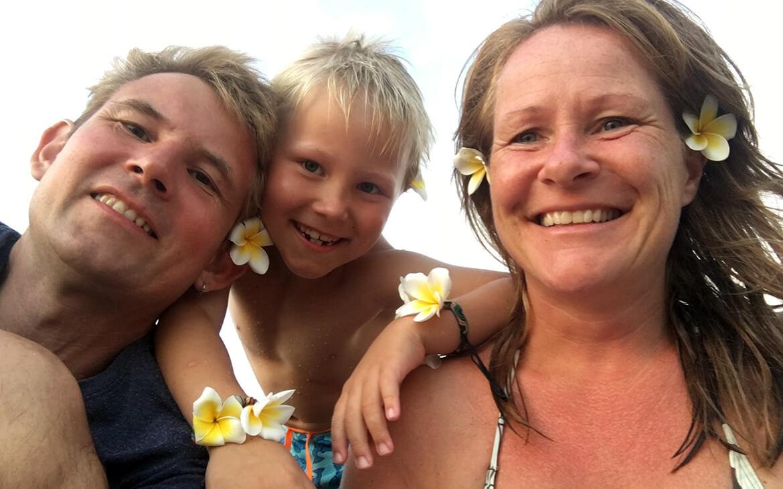 Sebastian, Peter og Lise, Bali