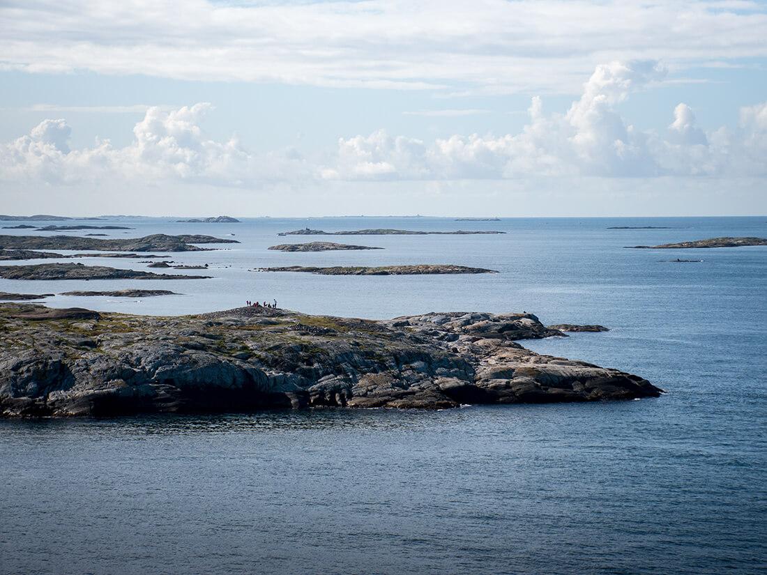 Den svenske skærgård ved indsejlingen til Göteborg