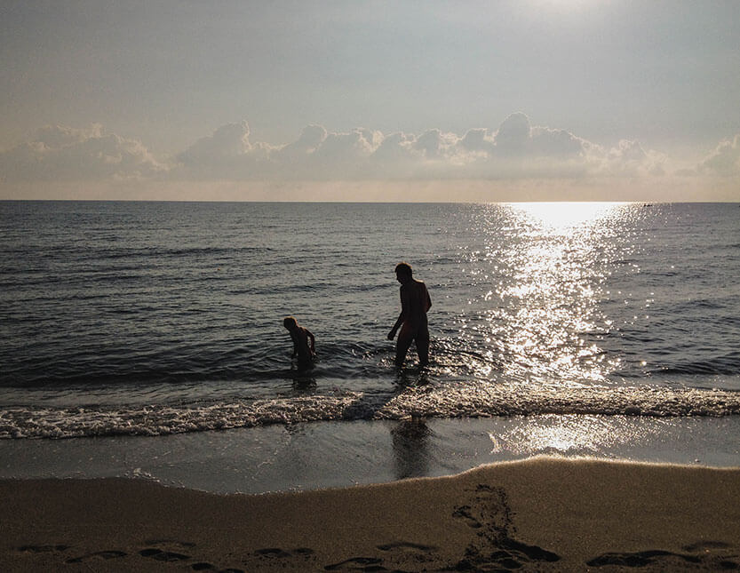 Tidlig morgenbadning, Korsika