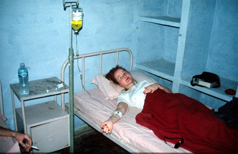Indlagt på hospital i Agra, Indien