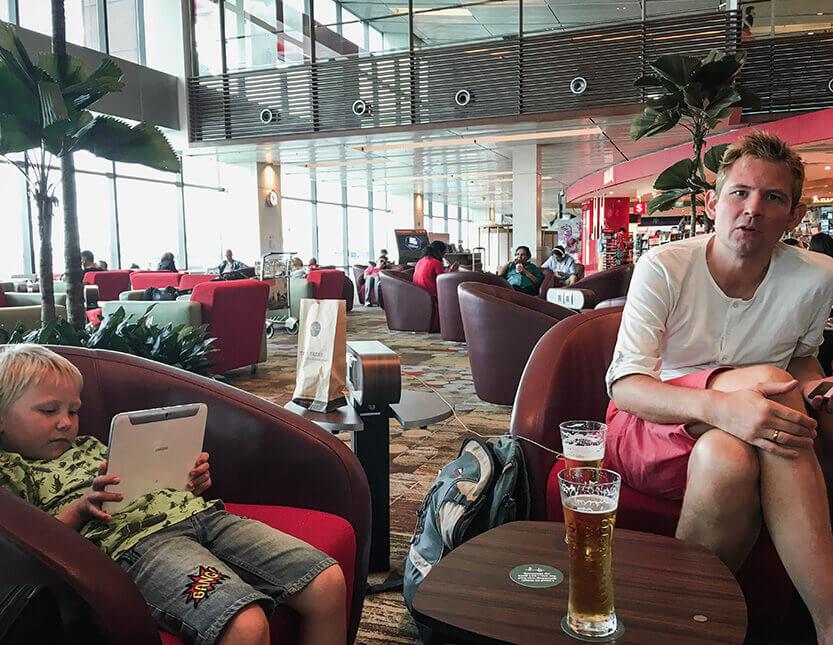 Ventetid i Changi Airport - Singapore