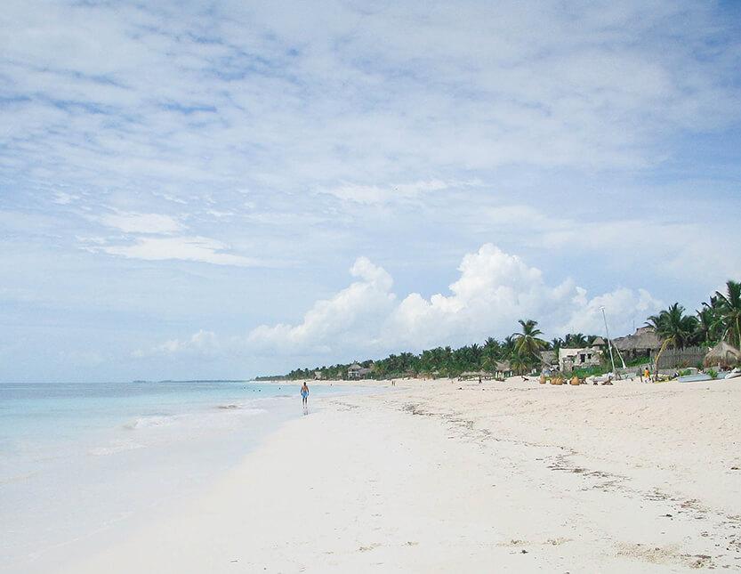 Riviera Maya - stranden er uendelig og for enden ligger naturreservatet: Reserva de la Biosfera Sian Ka'an