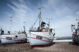 Flotte fiskerbåde på Thorupstrand