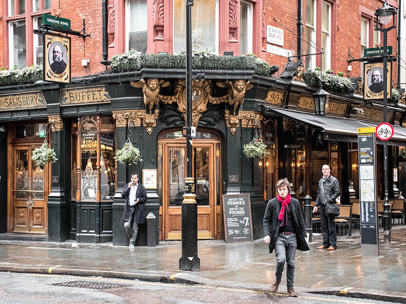 En lille sidegade ved Covent Garden