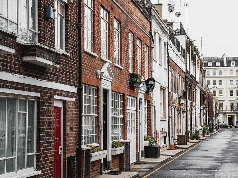 Typiske London huse i London