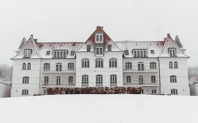 Comwell Kellers Park, en frostklar snemorgen