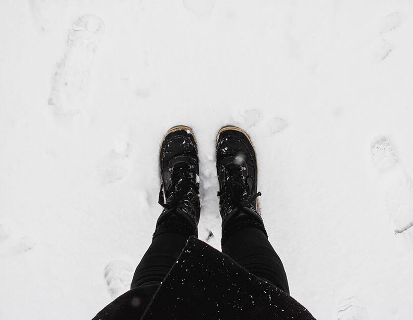 Alle skridt giver spor i sneen