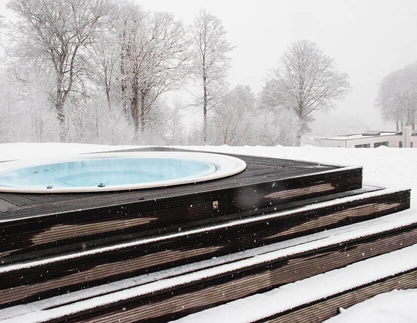 Vandet i spa'en var dejlig varmt – også i snevejr
