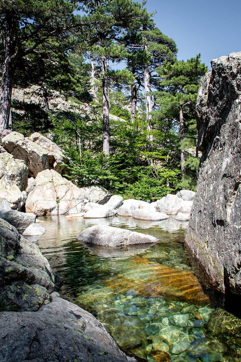 Vandet er krystalklart ved Cascades des Anglais