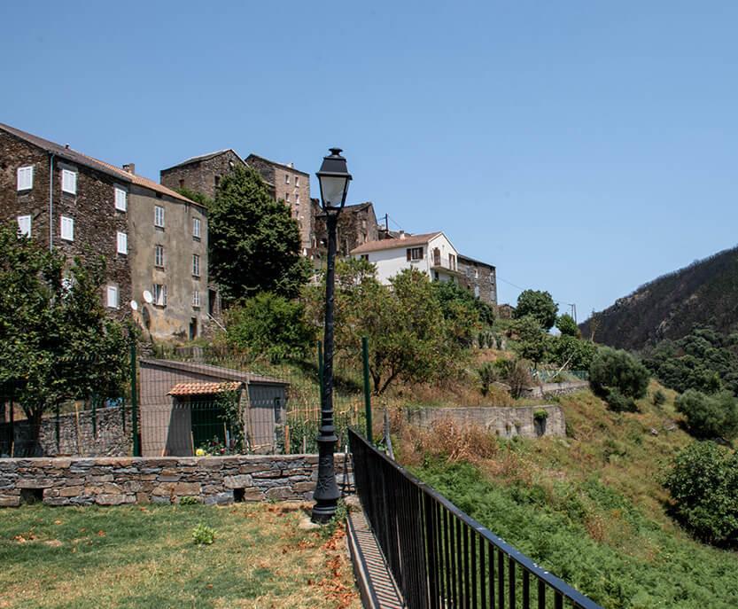 Chiastra by, udsigt fra kirken