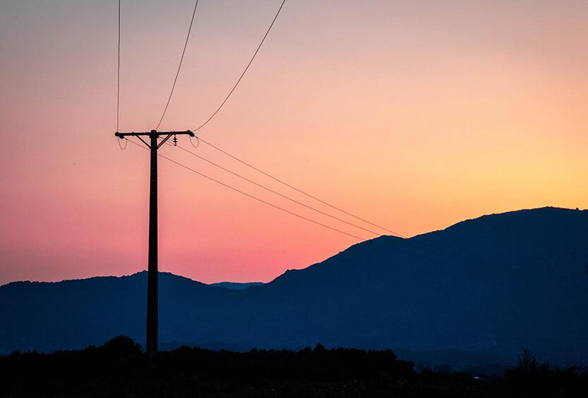 De sidste stråler over Korsikas bjerge
