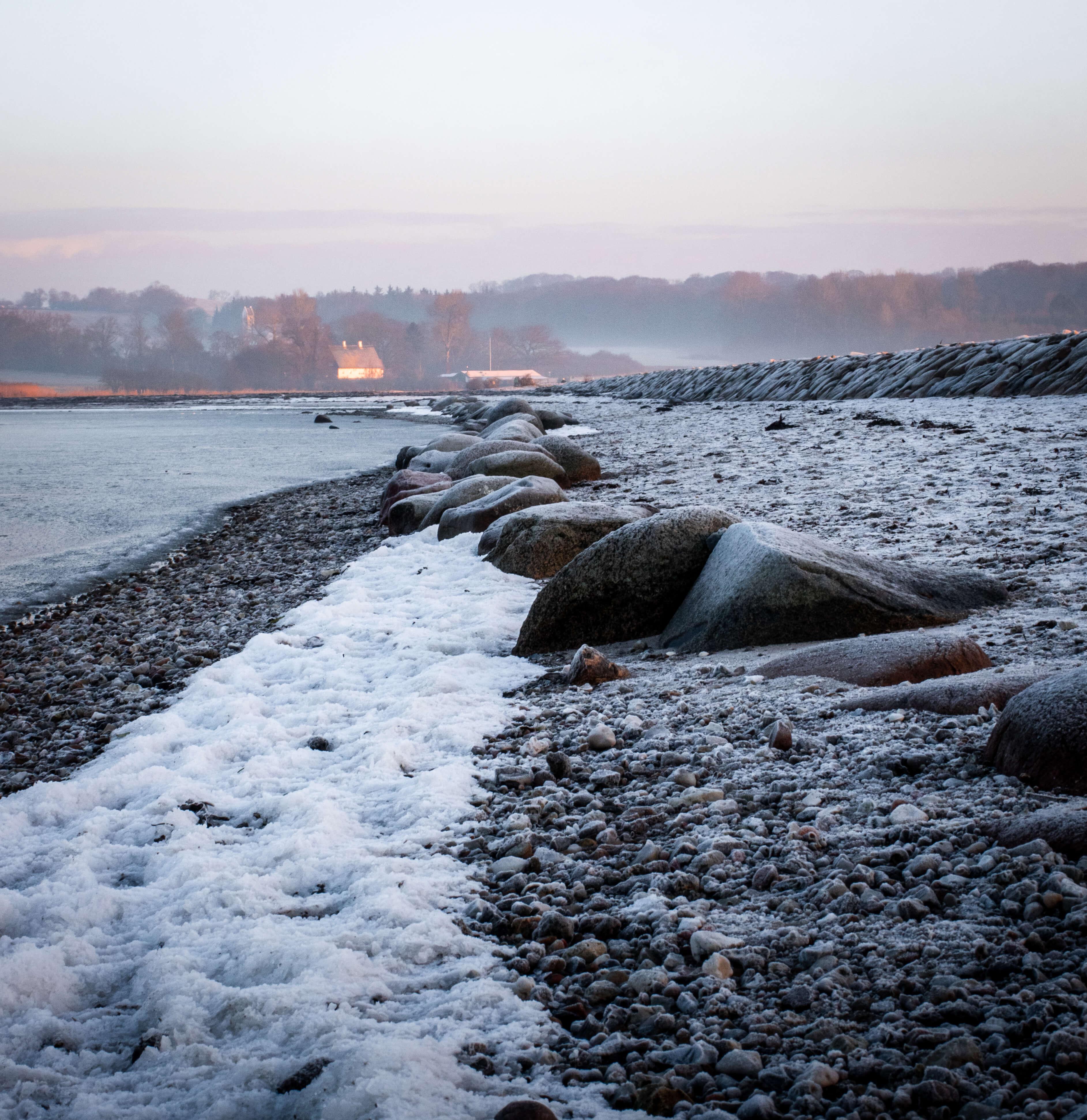 Kalø Slotsruin, januarmorgen