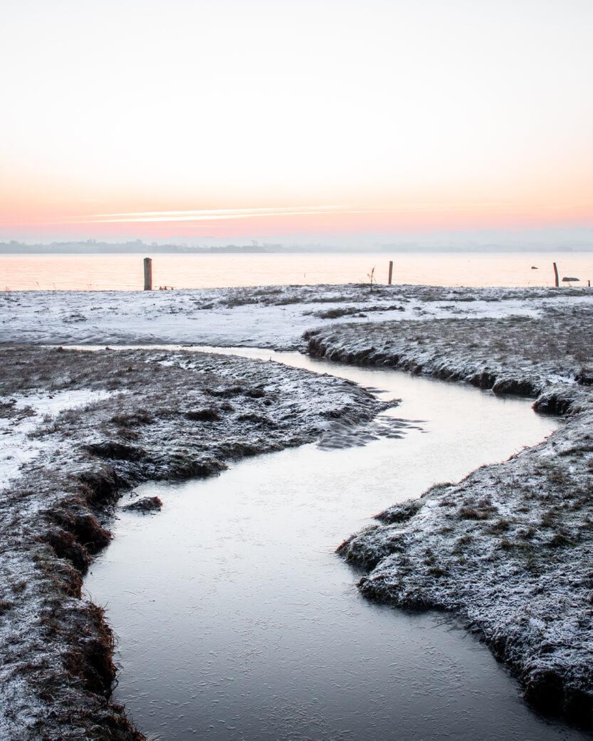 Lille åløb ved Kalø Slotsruin, Mols