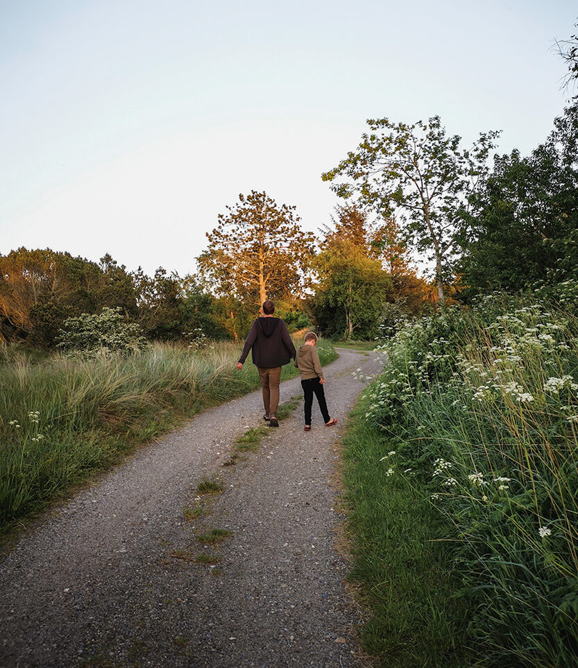 Aftentur lige inden solen går ned på Råbjerg Mile Camping