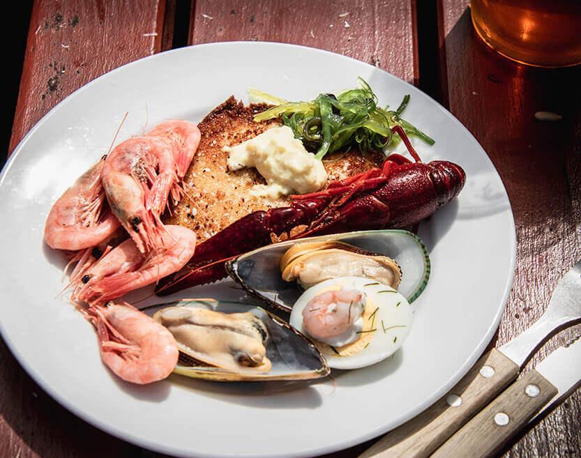 Spis friskfanget fisk på Skagens Havn
