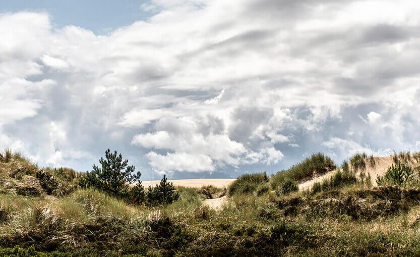 Himlen over Råbjerg Mile fortalte om dramatiske regnvejrstimer