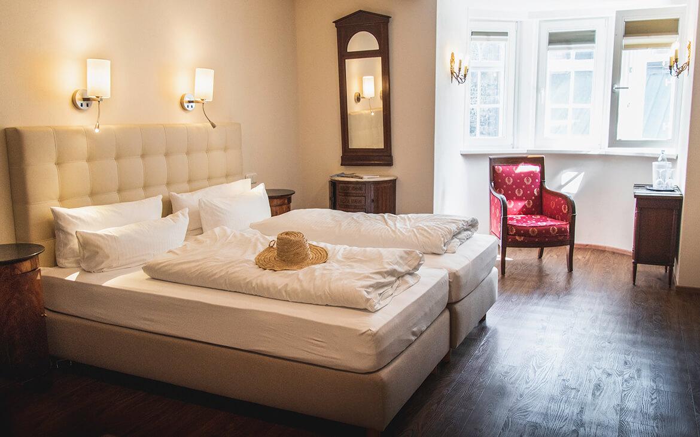 Familieværelset vi fik på Hotel Alte Münze, Goslar