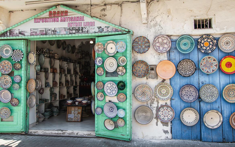 Marokko er fyldt med keramik i alle mulige smukke mønstre og farver