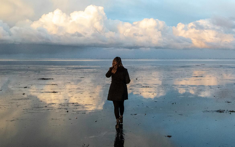 Lyset på stranden var helt fantastisk den morgen på Fanø