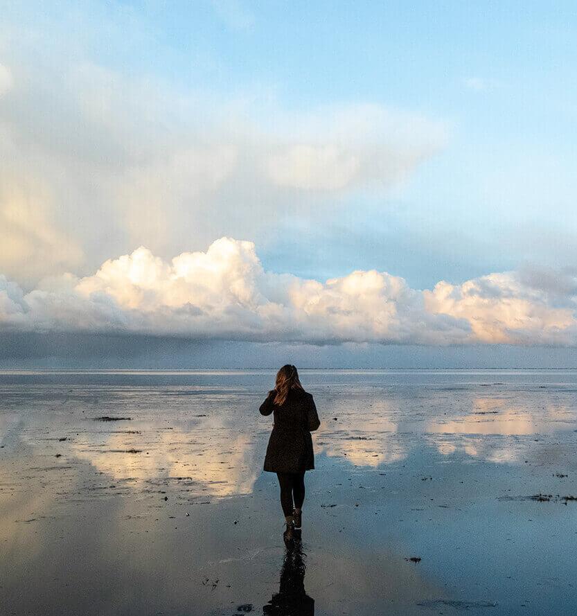 Stranden på Fanø er fantastisk - ikke mindst pga. den enorme himmel og det flotte lys