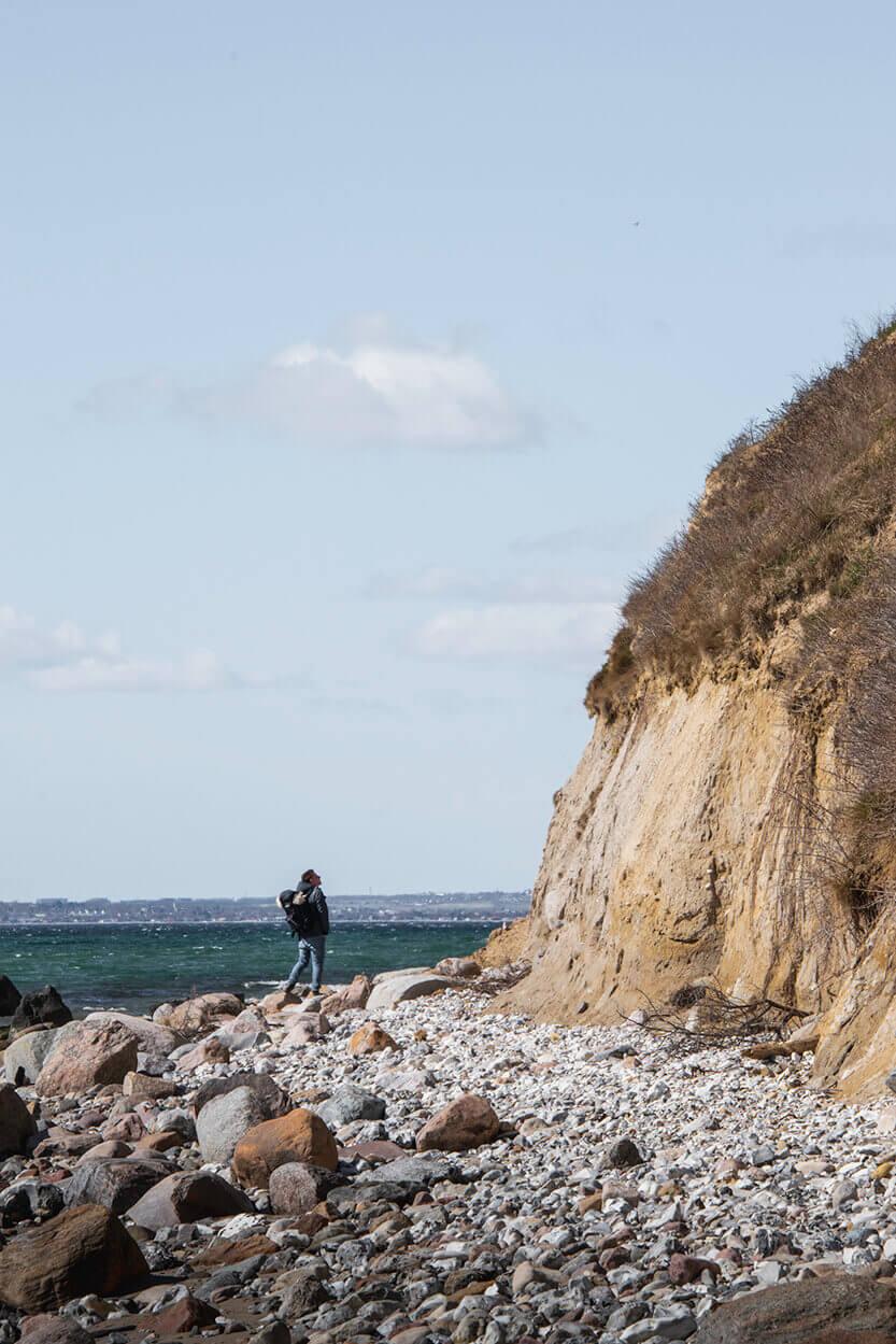 De flotte klipper på Skødshoved Strand