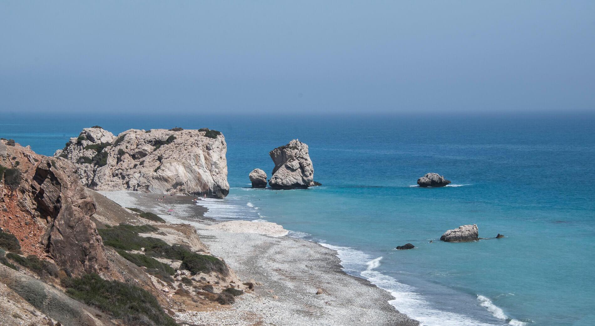 Udsigt over Aphrodites Rock, Cypern
