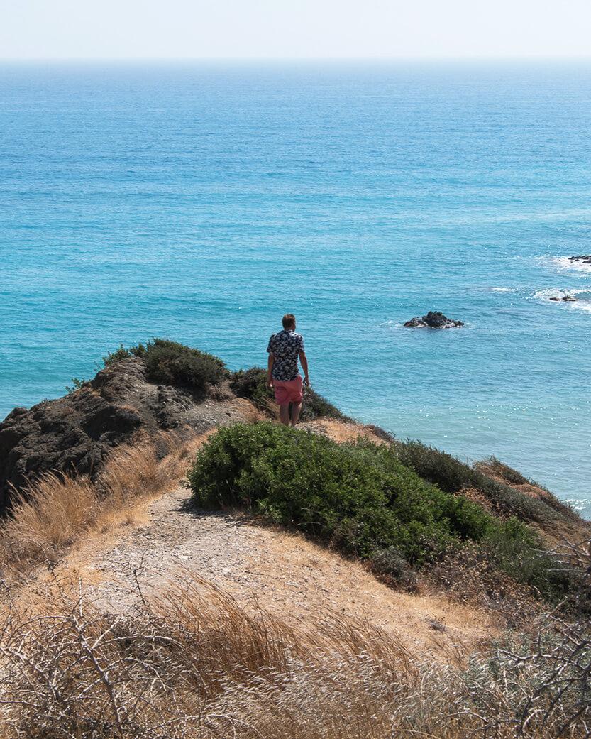Udsigt over det store hav ved Aphrodites Rock