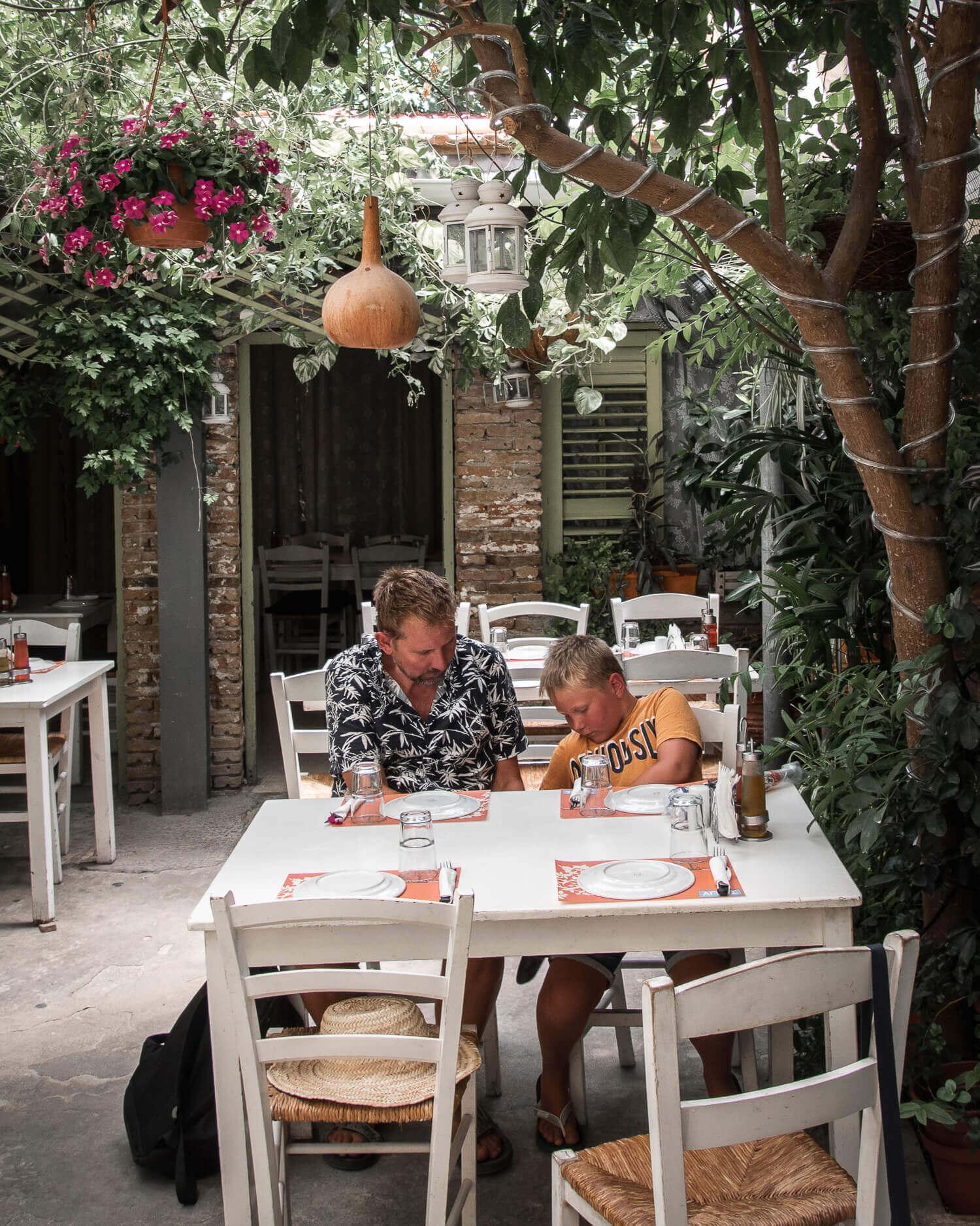 Restauranten, hvor vi indtog vores Meze i Nicosia