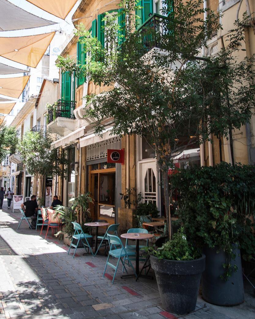 En af gaderne i Nicosia