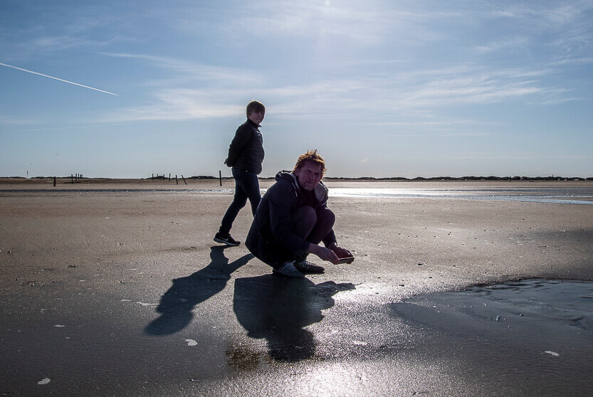 Sebastian og Peter på Lakolk Strand, Rømø