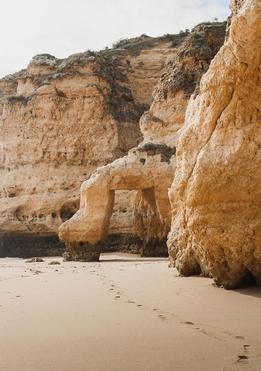Der er mange flotte formationer ved Algaves kyst