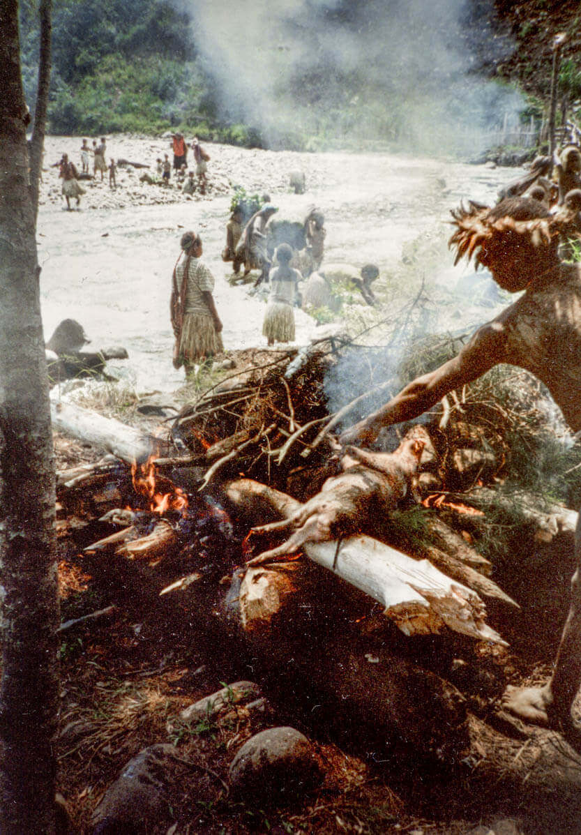 Til grisefest med kanibalerne, Irian Jaya