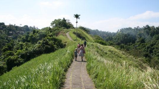Lise og Sebastian vandre på Campuhan Ridge