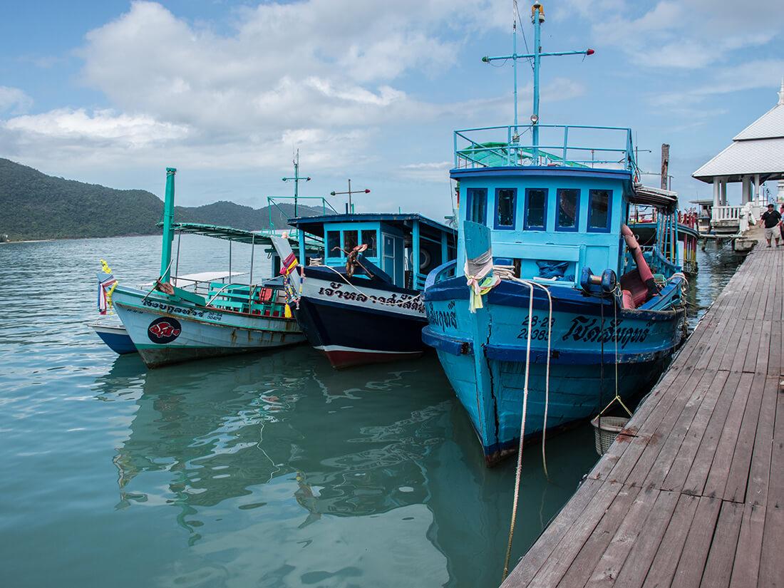 Både i Bangbao, Thailand