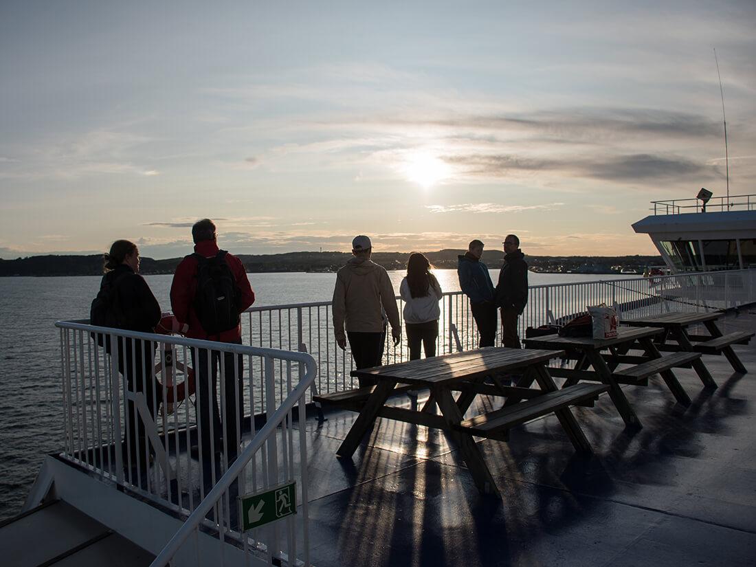 Solnedgang på Stena Line færgen