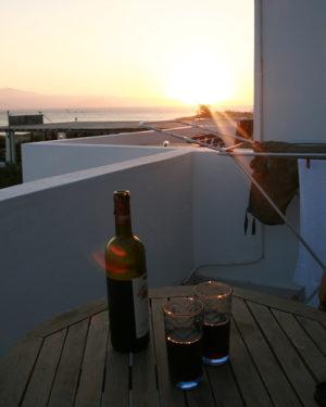 Rødvin på Naxos, Grækenland