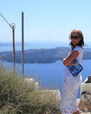 Lise Kryger, Santorini, Grækenland
